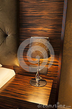 Free Lamp On A Night Table Royalty Free Stock Photography - 41150847