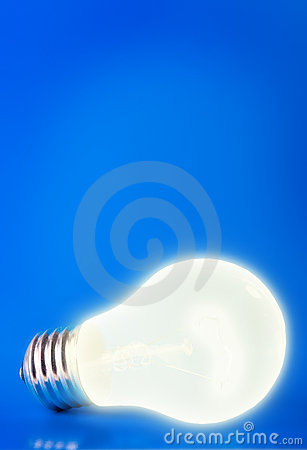 Free Lamp On Blue Royalty Free Stock Image - 2447896