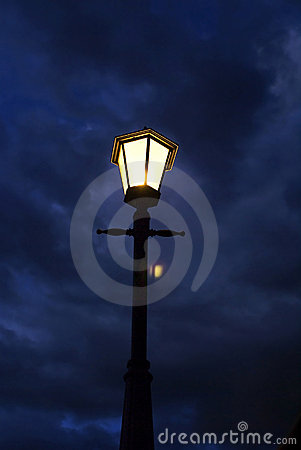 Free Lamp Pole - With Flare Stock Photography - 5720352