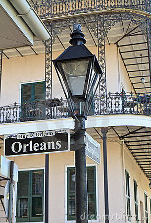 Free Lamp Post At Orleans And Dauphine Royalty Free Stock Photos - 22643178