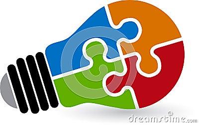 Lamp puzzle logo