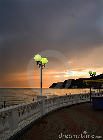 Lamp on the sea-front