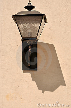 Lamp and shadow  on wall