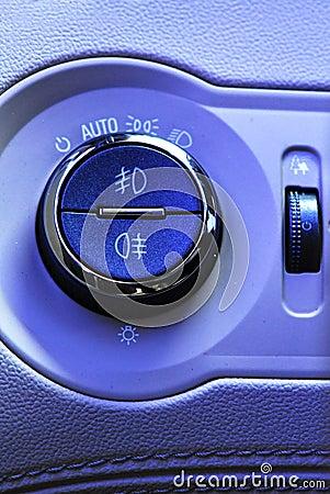 Lamp signals interior of car