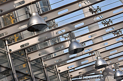 Lamp in steel structure construction
