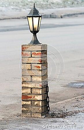 Lamp in street