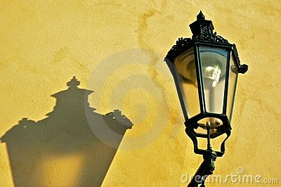 Lamp on Yellow Wall