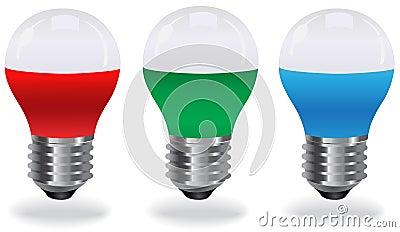 Lampadina del led blu rosso verde illustrazione for Lampadina led blu