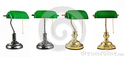 Lampe de bureau classique de banquier avec la cha ne de traction d 39 or lampe de table lumi re - Lampe de bureau banquier ...