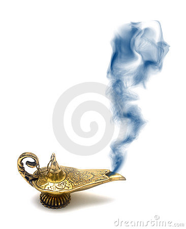 Lampe de fumage de génie