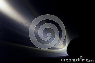 lampe torche de led avec un faisceau lumineux la nuit photo stock image 72893997. Black Bedroom Furniture Sets. Home Design Ideas