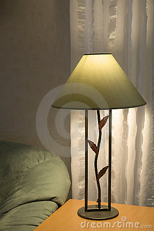 Sofa Und Lampe Stockbild - Bild: 34657561
