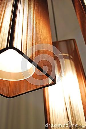 lampen met bruine schaduwen stock afbeelding afbeelding