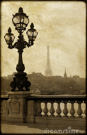 Lamppost on the bridge of Alexandre III