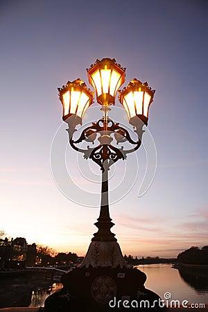 Lamppost at dusk
