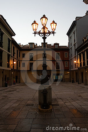 Free Lamppost In Square Royalty Free Stock Photo - 3531795