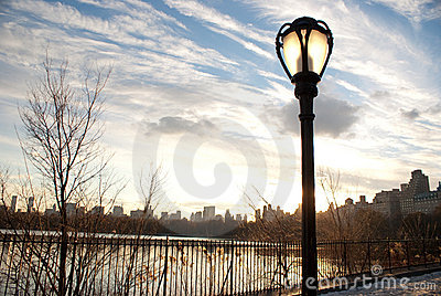 Lamppost at New York