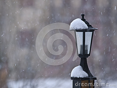 Lamppost in the Snow