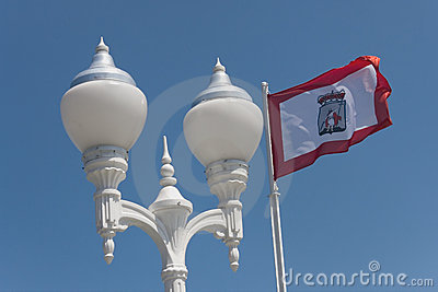 Lampposts in the city of Gijon