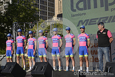Lampre Professional Cycling Team Editorial Stock Image