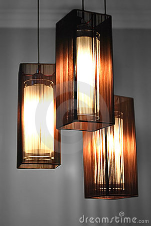 Lamps with Brown Shades