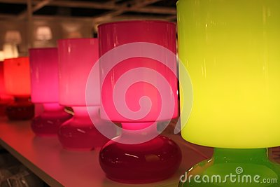 Lamps colored
