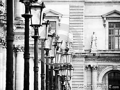 Lamps at the Louvre - Paris