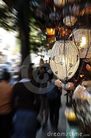 Lamps on a Turkish street