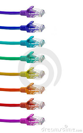 Free LAN Cable In Colorful Colors Stock Images - 8167664