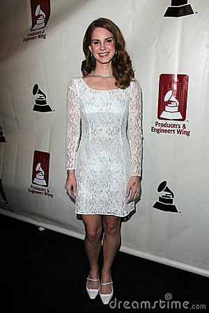 Lana Del Rey at the Producers & Engineers Wing Of The Recording Academy s 5th Annual GRAMMY Event, Village Recording Studios, Los  Editorial Stock Image