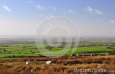 Lancashire plain to Morecambe bay.