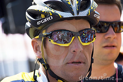 Lance Armstrong at the 100° Giro d Italia Editorial Stock Photo