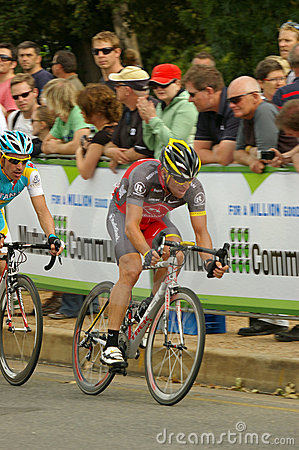 Lance Armstrong leading Tour Down Under 2010 Editorial Image