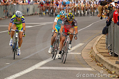 Lance Armstrong leading Tour Down Under 2010 Editorial Photo