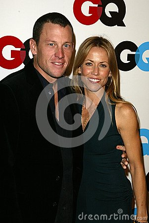 Lance Armstrong,Sheryl Crow Editorial Image