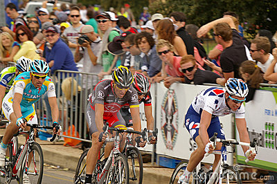 Lance Armstrong in the Tour Down Under 2010 Editorial Stock Image