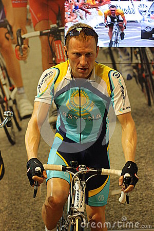 Lance Armstrong wax figure Editorial Photography
