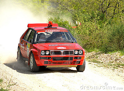 Lancia Delta HF rally car Editorial Photography
