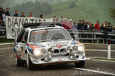 Lancia Delta S4 Martini Editorial Stock Photo