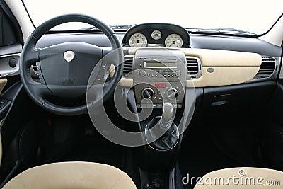 Lancia Y (ypsilon) interior Stock Photo