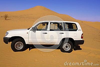 Land Cruiser in the desert.