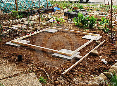 Land Prepared for Garden Shed