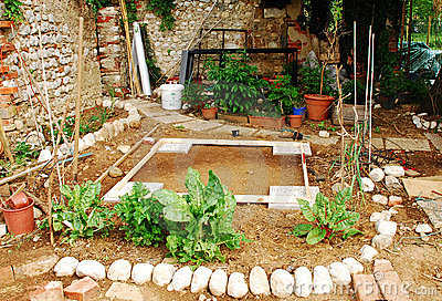 Land Prepared for Shed in Garden