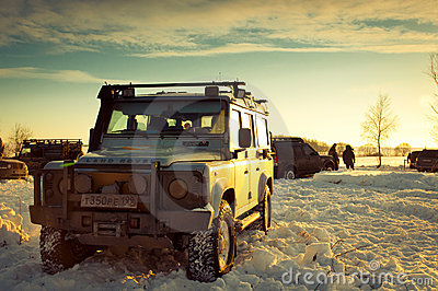 Land Rover Defender Editorial Photography