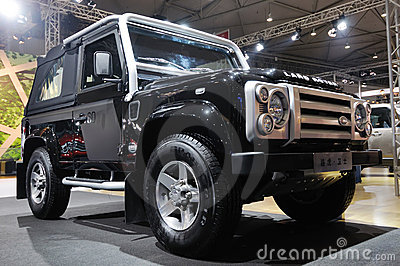 Land Rover Defender suv  Editorial Stock Image