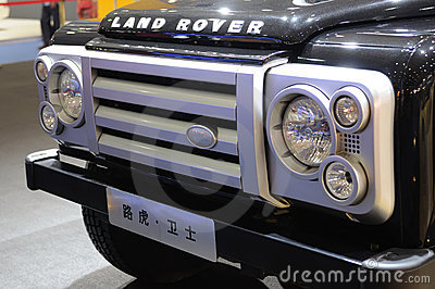Land rover Defender suv front Editorial Photography