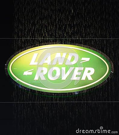 Land rover logo Editorial Image