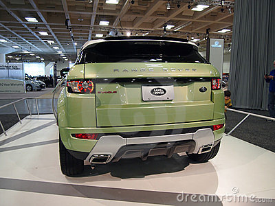 Land Rover Range Rover on Display Editorial Stock Photo