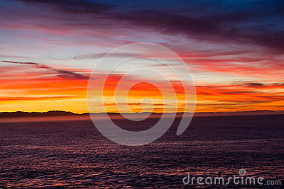 Land Sea Clouds Colors Dawn