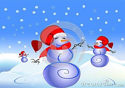 Land snowmen